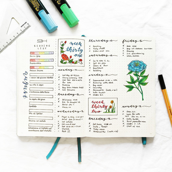 los bullet journal is quickly gaining popularity as an organizational method.